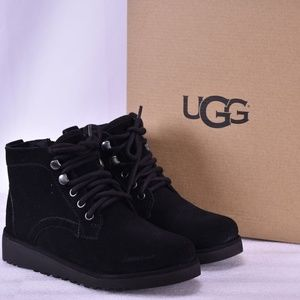 Youth UGG Banan Lace Up Black Winter Boots